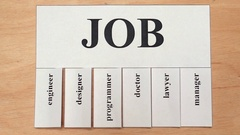Job advertisement with tear-off pieces Stock Footage