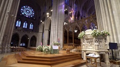 National Cathedral interior, episcopal church - Washington DC Stock Footage
