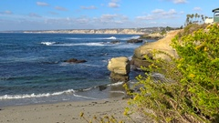 The picturesque coast of the Pacific ocean off San Diego. Stock Footage