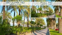 Comparison 4K UHD vs Full HD HDTV Stock Footage