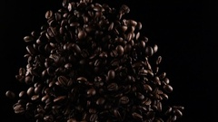 Coffee beans in a free fall Stock Footage