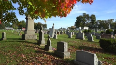 American civil cemetery, slider shot - Pennsylvania Stock Footage