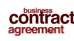 Contract animated word cloud. Stock Footage