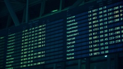 WARSAW, POLAND - DECEMBER, 24 Steadicam shot of international airport terminal Stock Footage