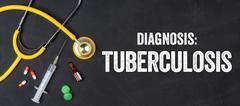 Stethoscope and pharmaceuticals on a blackboard - Tuberculosis Kuvituskuvat