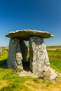 Rhoscolyn burial chamber, probably a fake Stock Photos