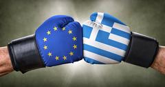 A boxing match between the European Union and Greece Kuvituskuvat