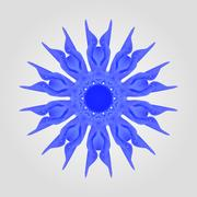 Abstract blue flower Stock Illustration