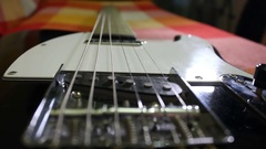 Electro guitar's strings Arkistovideo