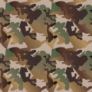 Camouflage pattern background  clothing print, repeatable camo Stock Illustration