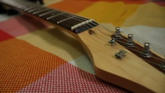 Electro guitar. Panorama Stock Footage
