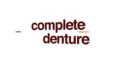 Complete denture animated word cloud. Stock Footage