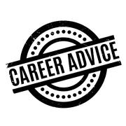 Career Advice rubber stamp Stock Illustration