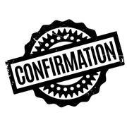 Confirmation rubber stamp Stock Illustration