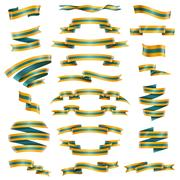 Decorative Ribbons Set Stock Illustration