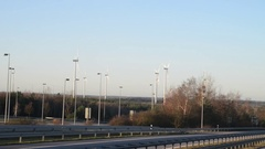 Wind power generators on the way to Germany. Stock Footage