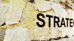 Strategy grunge concept Stock Footage