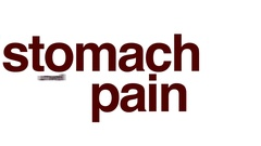 Stomach pain animated word cloud. Stock Footage