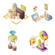 Data Analysis Isometric Compositions Piirros