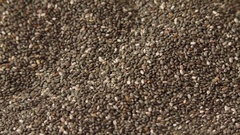 Many chia seeds and superfood Stock Footage