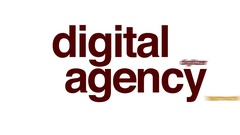 Digital agency animated word cloud, text design animation. Stock Footage