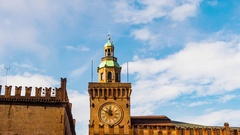 Palazzo d'Accursio in Bologna, Italy Stock Footage