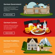 Germany Flat Horizontal Banners Stock Illustration