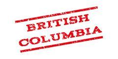 British Columbia Watermark Stamp Stock Illustration