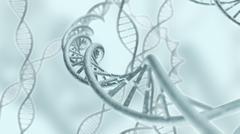 Genetic DNA code strands 3D rendering Stock Illustration
