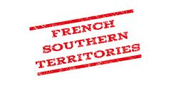 French Southern Territories Watermark Stamp Stock Illustration