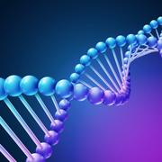 Digital nature, medical science vector background with DNA molecules Stock Illustration