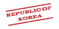 Republic Of Korea Watermark Stamp Stock Illustration