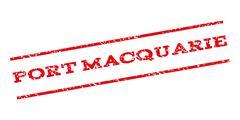Port Macquarie Watermark Stamp Stock Illustration
