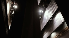 Side scenes of a theater and lighting Stock Footage