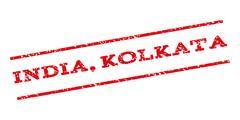 India Kolkata Watermark Stamp Stock Illustration