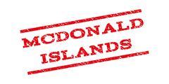 Mcdonald Islands Watermark Stamp Stock Illustration