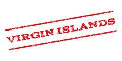 Virgin Islands Watermark Stamp Stock Illustration