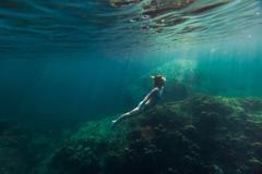 Lady underwater Stock Photos