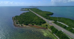 Aerial rising Florida Keys Stock Footage