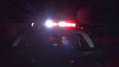 Emergency vehicle responding to call Stock Footage