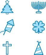 Holiday Icon Designs Stock Illustration