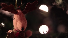 Xmas Tree Decoration, Deer - Tripod - Christmas Stock Footage