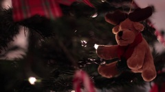 Xmas Tree Decoration, Reindeer - Tripod - Christmas Stock Footage
