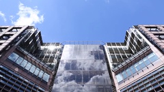 Mid-rise with cloudy sky, timelapse, London Stock Footage