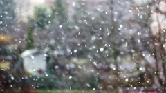 Snow Flakes Shallow Depth Of Field Stock Footage