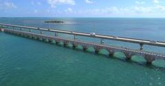 Aerial video Bridge to Key West Stock Footage
