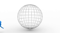 Creating a Rotating Globe Stock Footage