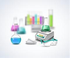 Chemical Eqiupment Composition Stock Illustration