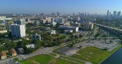 Aerial video Miami Civic Center Stock Footage