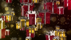 3D animation present box gift for holiday Christmas or sale promotion background Stock Footage